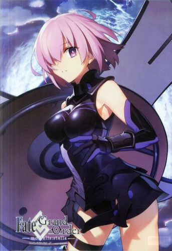 Fate//Grand Order Mortalis Stella Mash Kyrielight Collab Cafe A3 Clear File Anime