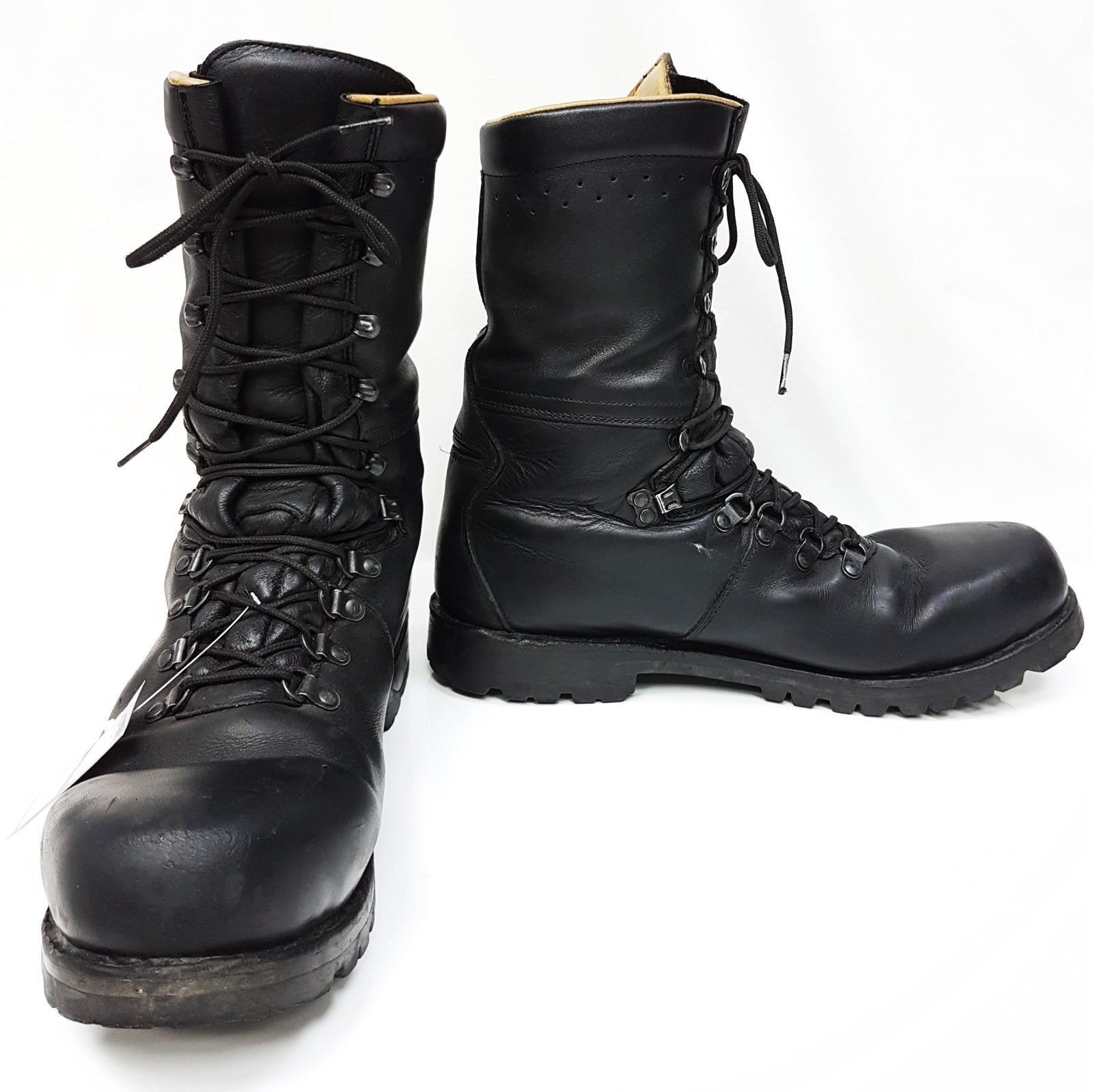 Leather Para Boots Austrian Assault German Lined & Padded Grade 1 Surplus Boots