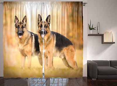 German Shepherd Dog WIndow Valance or Shower Curtain Color choices