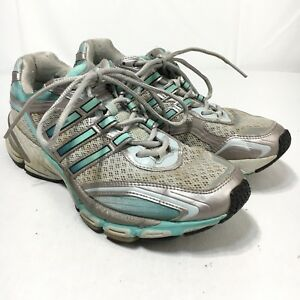 Details about Adidas AdiPRENE Supernova Glide Women's 8.5 Silver Blue Athletic Running Shoes
