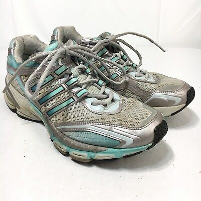 Adidas AdiPRENE Supernova Glide Women's 8.5 Silver Blue Athletic Running Shoes | eBay