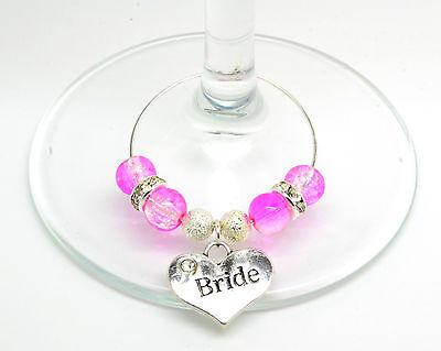 Leale Rosa Crackle Personalizzato Matrimonio Famiglia Tavolo Partito Da Vino In Vetro Charms- Ritardare La Senilità