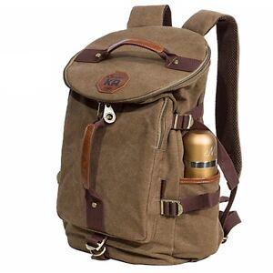 KAUKKO Canvas backpack Sports Shoulder Messenger Bag  Tote School Gym Laptop 255