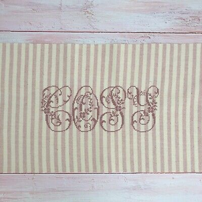 """Susie Watson **STRIPE** Cotton Cushion Cover ~  Dusky Pink//Ivory   ~ 16/"""" square"""