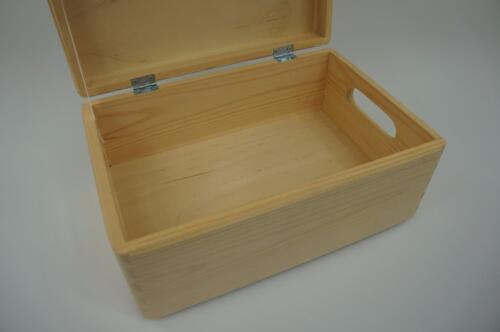 Small Plain Wooden Box Keepsake Memory Souvenirs Craft Storage Chest SK+PK
