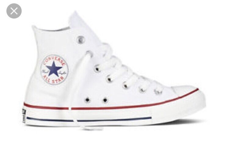 CONVERSE WHITE HIGH TOPS Uk ADULT 8   Cheapest And Original