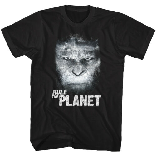 Planet of The Apes Caesar Rules Men/'s T Shirt Angry Face Monkey Chimpanzee