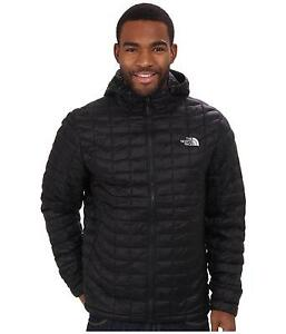 dedfe790a Details about THE NORTH FACE MENS THERMOBALL HOODED JACKET INSULATED HOODIE  BLACK SIZE M NEW