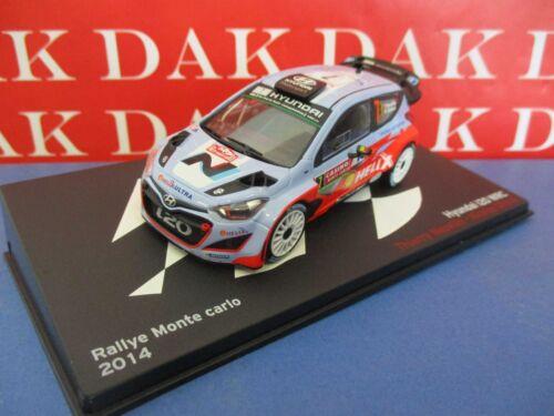 Die cast 1//43 Modellino Auto Hyundai i20 WRC Rally Monte Carlo 2014 T.Neuville