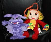 1999 Krofft Superstars Sparky & Stupid Bat Beanies Plush Toy