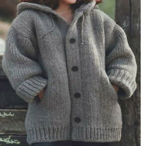 Knitting Pattern- Super Chunky ladies hooded Jacket- chest ...