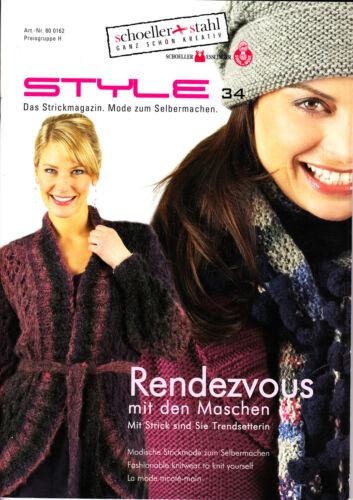 Strickmagazin,Heft,stricken Anleitungen STYLE für Frauen Winter 35 Modelle