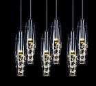 Luxury LED Crystal Glass Ceiling Lights Pendant Lamp Chandelier Bar Lighting