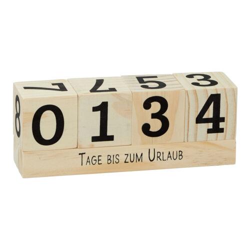 Holz Countdown Würfel Langzeitkalender Zähler Tisch Kalender Deko Urlaub Rente