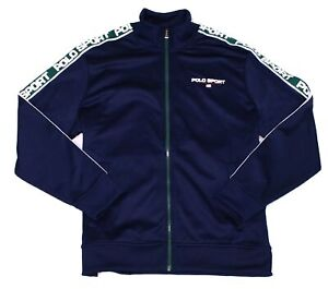 Polo Ralph Lauren Mens Jacket Blue Size 2XL Full Zip Collar Track $168 #134