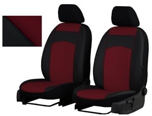 Burgundy EcoLeather Universal Front Seat Covers Vauxhall Astra Vectra Combo