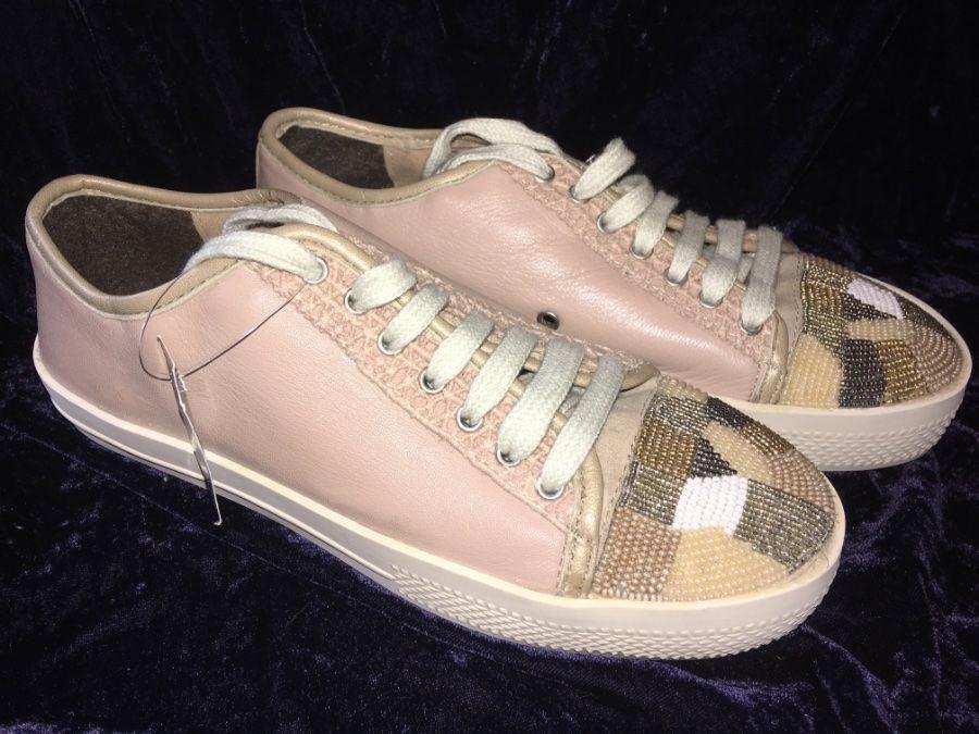 Bibi Lou Beaded Toe Sneakers-35- 128 MSRP