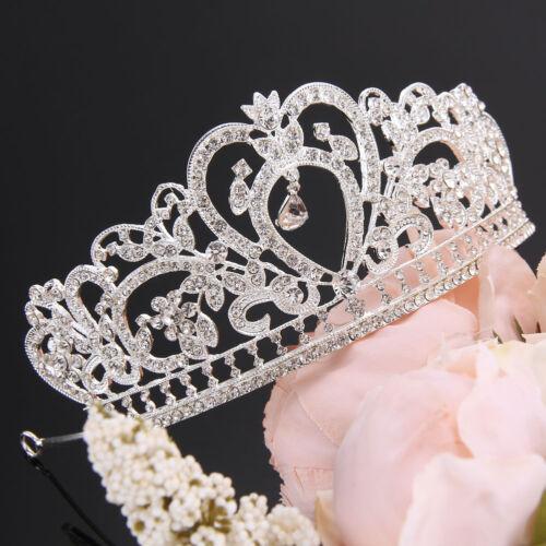 Gold Bridal Crown Tiara Crystal Rhinestone Wedding Prom Pageant Crowns Headband