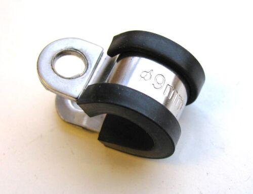 Bremse Rohr Kabel Draht Montagehalterung 304ss Gummi Gefüttert Stahl P Clips
