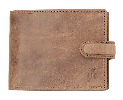 New STARHIDE Mens RFID Shielding Distressed Vintage Leather Wallet Purse 1070