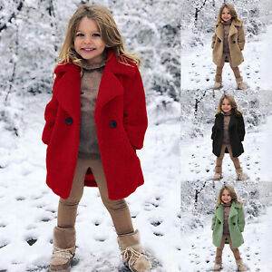 Toddler Kids Baby Girls Windproof Coat Thicken Warm Winter Outwear Jacket Coats