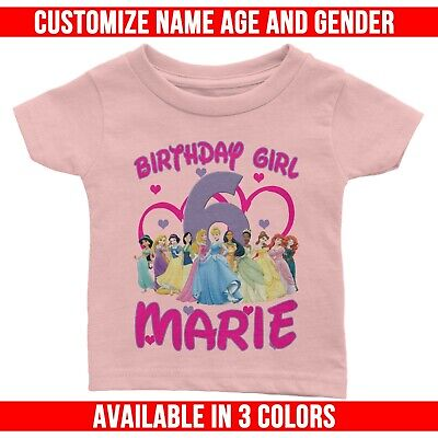 Personalize Princess Squad Birthday T-shirt