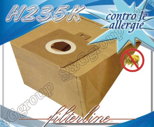 H235MF 5 sacchetti filtro microfibra per aspirapolvere Hoover Freespace TFS 5207