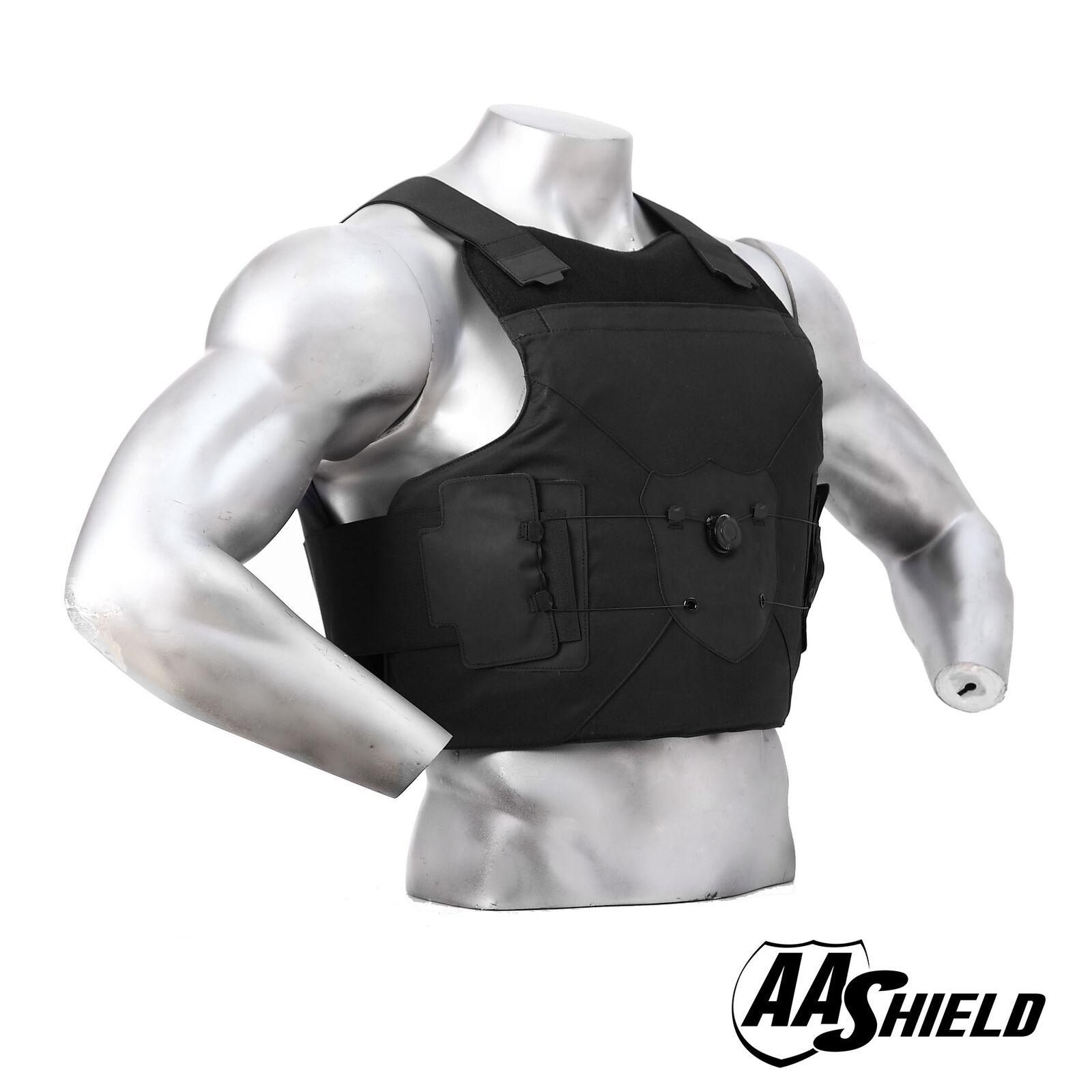 AA Escudo Chaleco antibalas Hebilla de marcado de armadura de cuerpo Chaleco Traje ocultable M L BK