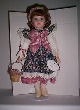 """NEW Vintage Leonardo Collection  16"""" Porcelain Doll """"MARIE""""  w/ Stand and COA"""