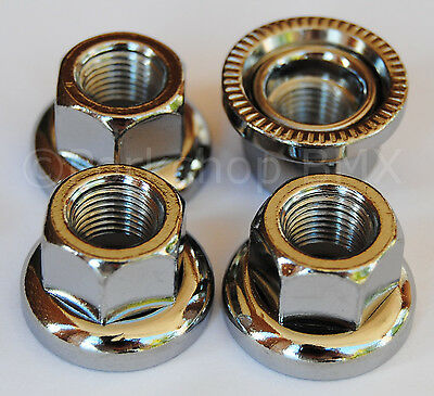 "SAVE YOUR DROPOUTS SET OF 4-3//8/"" X 24T Swivel washer BMX axle /""track/"" nuts"