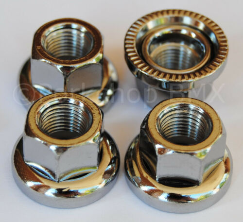 """SAVE YOUR DROPOUTS Swivel washer BMX axle /""""track/"""" nuts SET OF 4-3//8/"""" X 26T"""