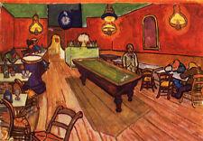 Oil painting Vincent Van Gogh - inside the cafe Interior Landscape