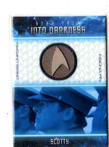 Star Trek Movies Rittenhouse 2014 Into Darkness Uniform Badge Card Selection