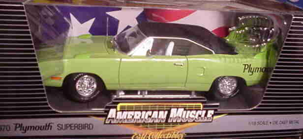 1970 PLYMOUTH SUPERBIRD vert 1 18 ertl american muscle 39408