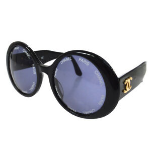 a76967002fe0 Image is loading Authentic-CHANEL-Vintage-CC-Logos-Round-Sunglasses-Eye-
