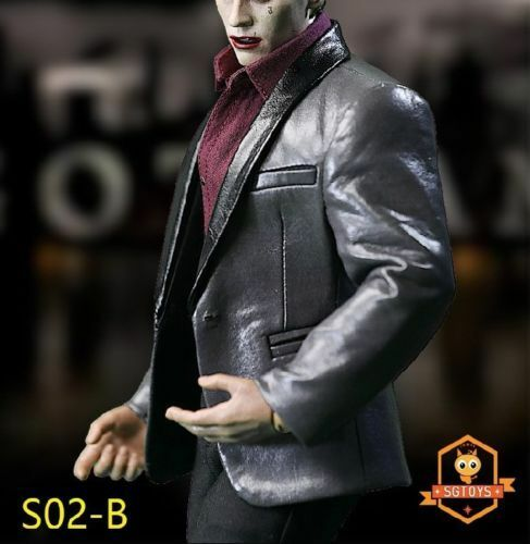 SGTOYS S02B S02B S02B 1 6 Men's Fashion Leather Suit Clothes Set Fit PH COOMODEL Body e18dfa