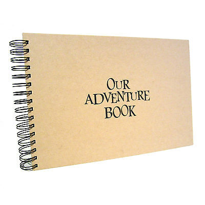 A5 A4 Our, My Adventure Book, Landscape, Card Pages, Photo Album, from UP