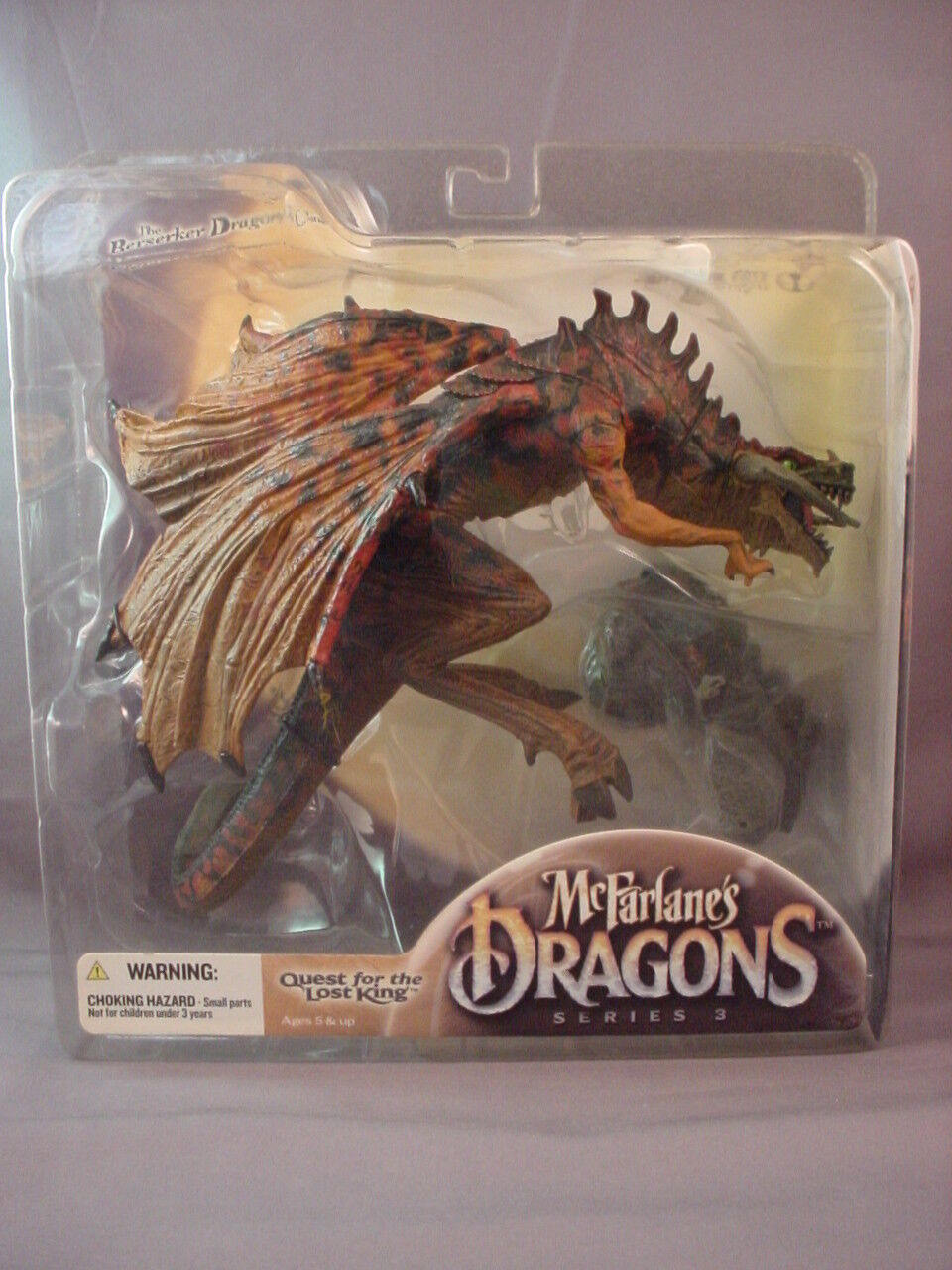 McFARLANE'S DRAGONS S3 QUEST FOR THE LOST KING BERSERKER DRAGON CLAN FIG SEALED