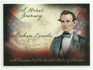 TOPPS-HERITAGE-2009-TC-HJ-9-A-Hero-039-s-Journey-Abraham-Lincoln-Takes-Charge-NEW