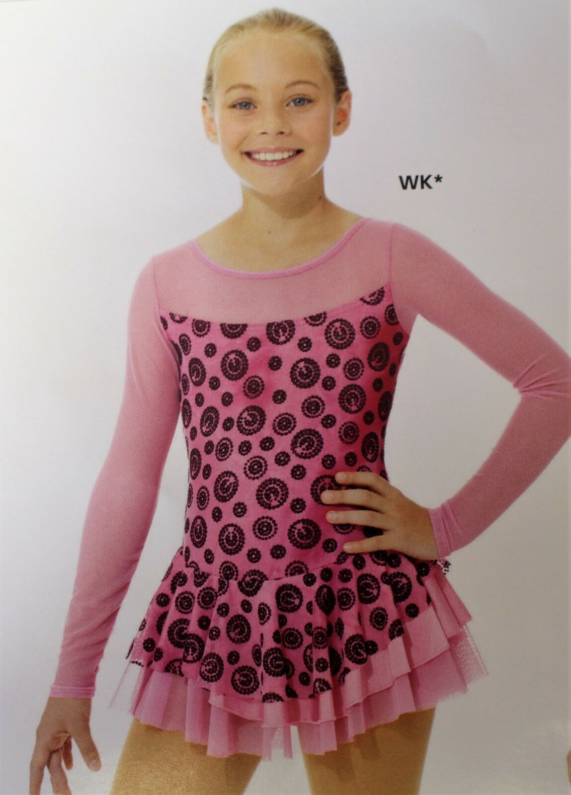 Mondor Model 669 Girls Skating Dress - WK pink