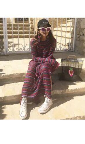 S Dress Knit Fancy Long Striped Zara Size Bnwt 5802010330031 Multicolor xw0qStTtAR
