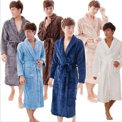 Fashion Men Women coral velvet robe long-sleeved flannel pajamas thick bathrobe