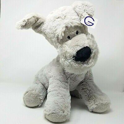 "Gund Grey Dog Plush 19/"" Soft Toy Puppy Large Stuffed Animal SNUGGLY SOFT PUPPY"