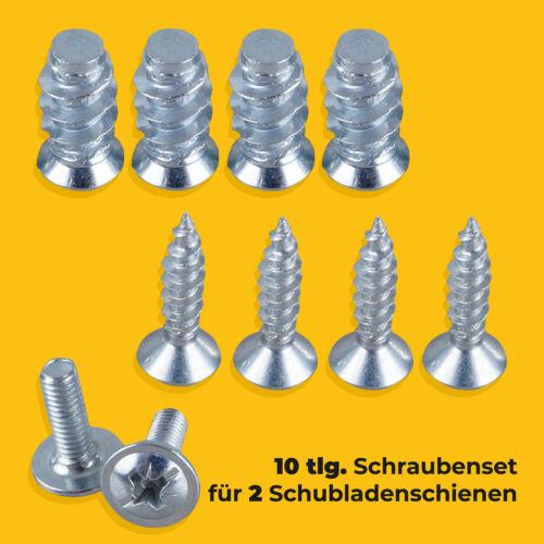 Vis appropriées 10 pces Rails De Tiroir m4 Meubles Vis Holzschrauben