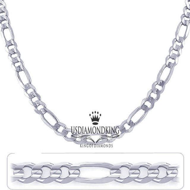 "MEN'S LADIES 925 STERLING SILVER FIGARO CUBAN LINK CHAIN NECKLACE 20""~30""X3MM"