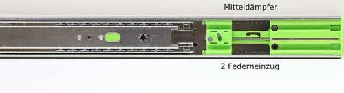 Teleskopschienen Schubladenauszüge Softclose Vollauszüge 40 kg 45 mm 650 mm