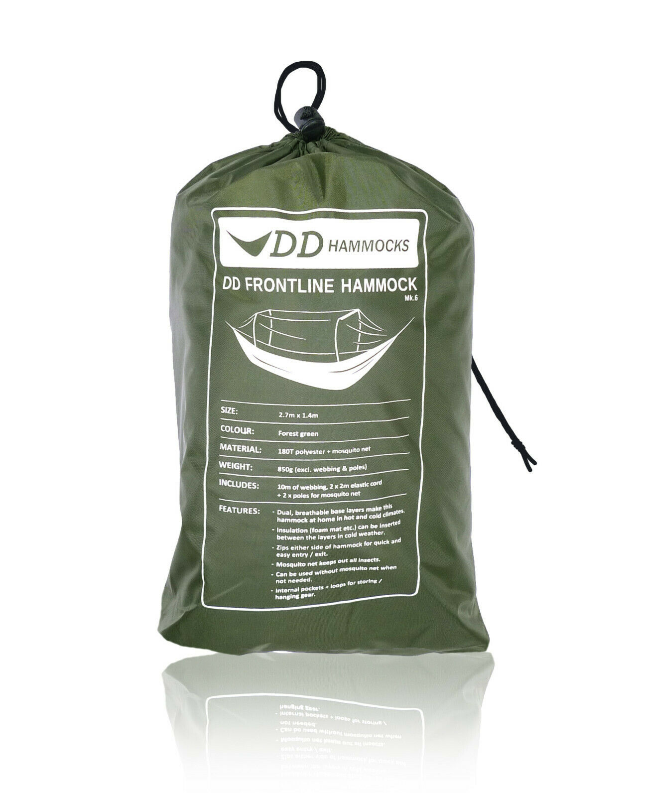 DD Frontline Hamaca Cámping Ejército Bushcraft-Elección del Color