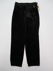 new-CHEROKEE-M163-Girl-039-s-Size-L-10-12-Soft-Velour-Velvet-Black-Bow-Casual-Pants