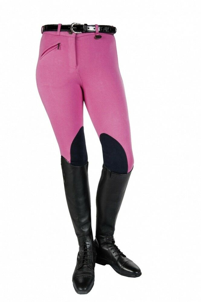 Kinder Reithose Kniebesatz Penny Easy HKM pink dunkelblue 116