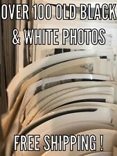 100 + RANDOM Old Photos Lot Vintage BLACK & WHITE Photographs Snapshots antique